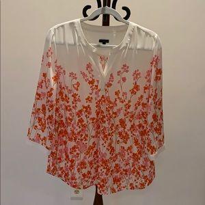 Talbots Size M floral print blouse